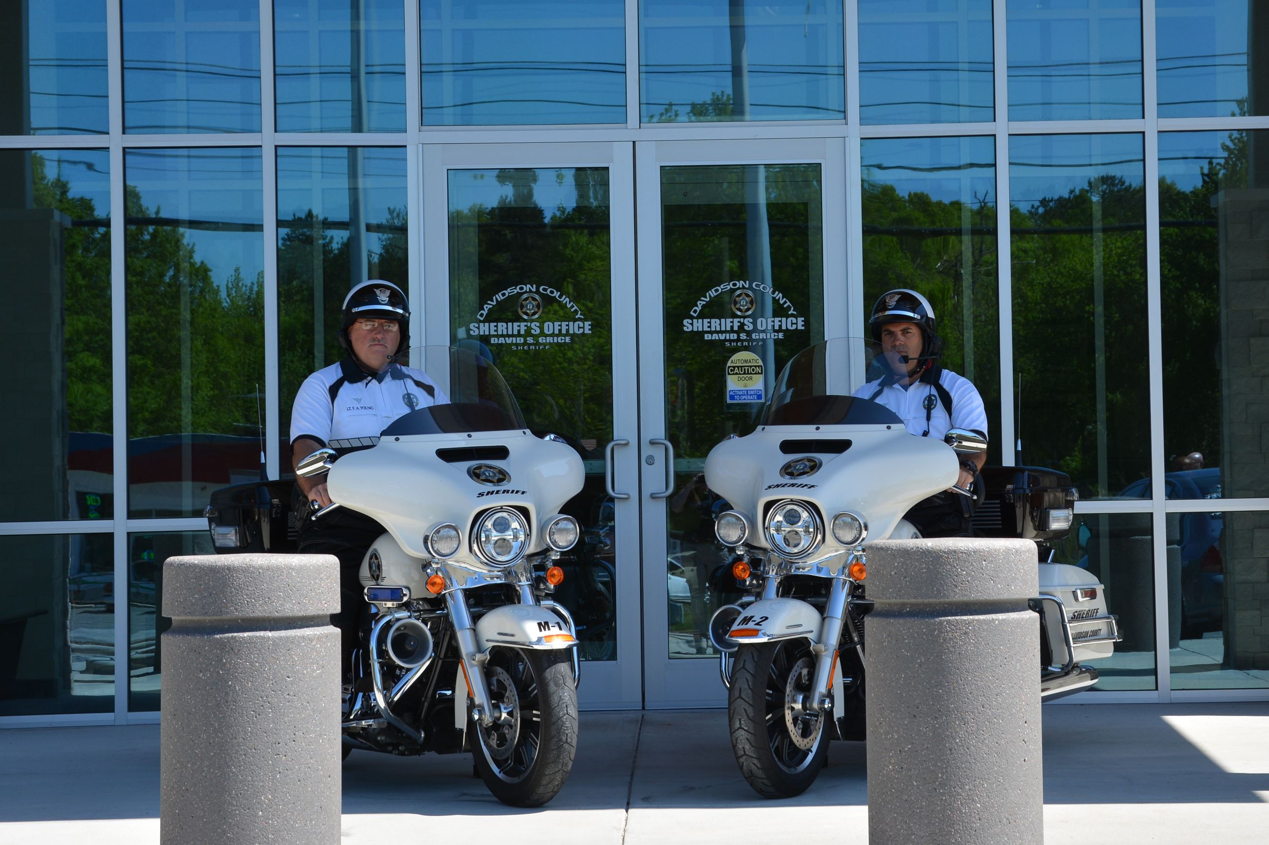 Lt. Young and Capt. Miller on the Harley Davidson Police Motorcycles