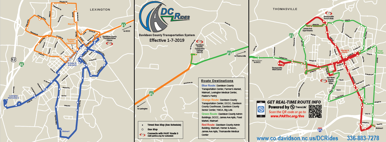 Routes & Schedules | Davidson County, NC on