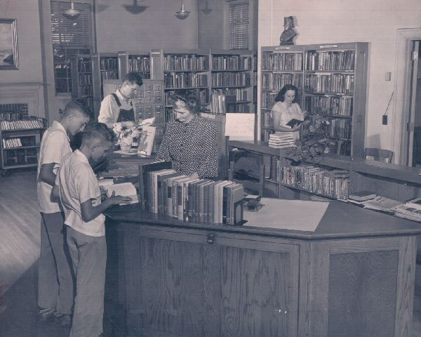 Black and White Library Photo