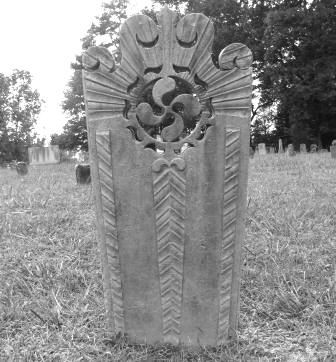 Black and White Headstone