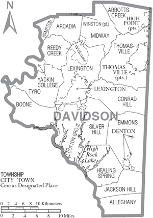 Map of Davidson County