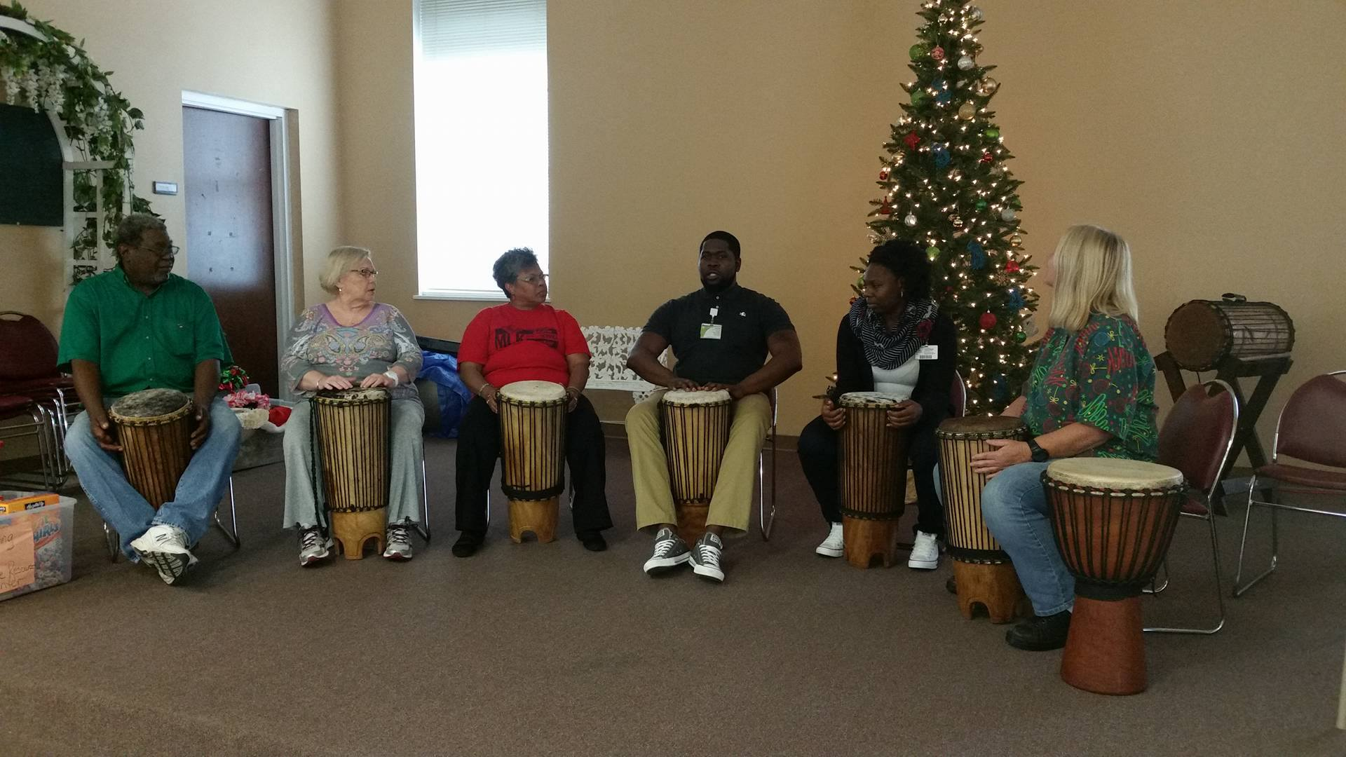 Group during a bongo lesson