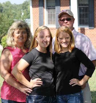 Rodney and Donna Fulton and their 2 daughters